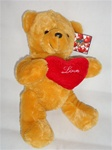 13 inch Tan Bear with Love Heart