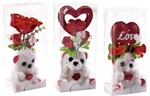 Plush Bear and Heart or Rose