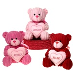 8 inch Sitting Bears with XOXO Hearts