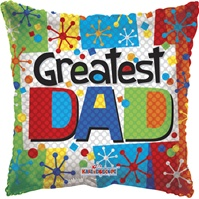 9 inch Greatest Dad Multicolor Foil