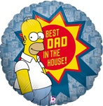 18 inch Homer Best Dad Father's Day foil balloon,  This classic Homer design is sure to delight any father. The Simpson's is one of the longest running TV shows of all time.