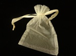 IVORY Sheer Organza  Gift Bag