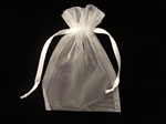 WHITE Sheer Organza  Gift Bag