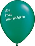 16 inch Qualatex Radiant PEARL EMERALD Latex Balloon