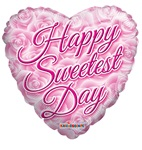 18 inch Sweetest Day Roses Heart Shaped Foil balloon