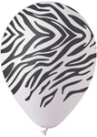 12 inch Zebra Stripes on White