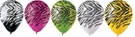 12 inch Party Loons Assorted Zebra Stripes