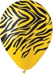 12 inch Party Loons Yellow Zebra Stripes