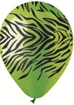 12 inch Party Loons Lime Zebra Stripes