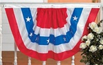 39 inches x 22 inches Patriotic Nylon Fabric Bunting