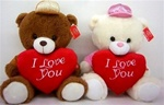 17 inch Bear with I Love You Red Heart