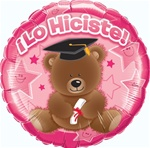 18 inch Lo Hiciste Bear Pink Foil Balloon