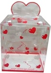 9in x 8in x 6.5in RED Heart Printed Display Box