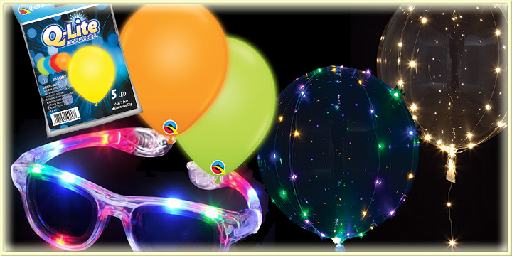 Novelties and Balloons that light up!
