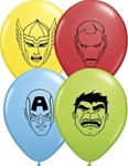 5 inch Qualatex Avenger Assemble FACE Assortment