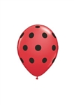 5in Big Polka Dots RED