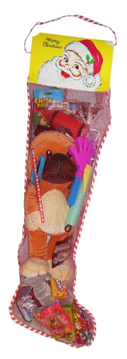 36 Inch Toy And Candy Filled Net Christmas Stocking